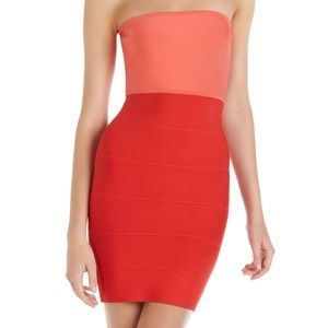NWOT BCBG Alyona coral dress